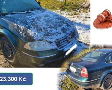 19.2.2020 Dražba automobilu VW Passat. Vyvolávací cena 23.300 Kč, ➡️ ID678952