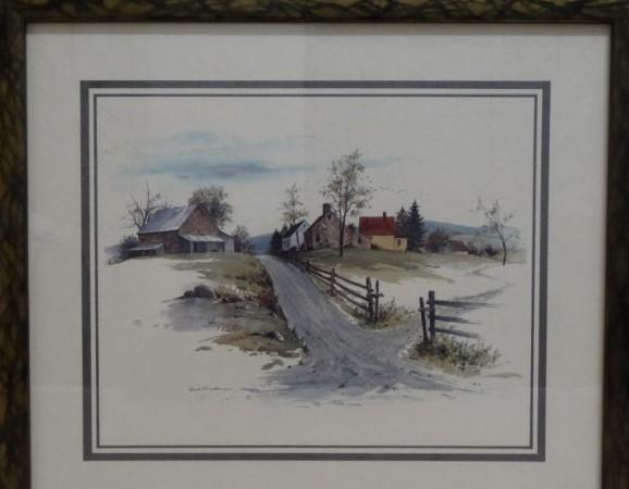 Do 25.1.2020 Aukce (Obraz reprodukce: VENKOVSKÝ MOTIV, STAVENÍ). Vyvolávací cena 60 Kč, ➡️ ID678622