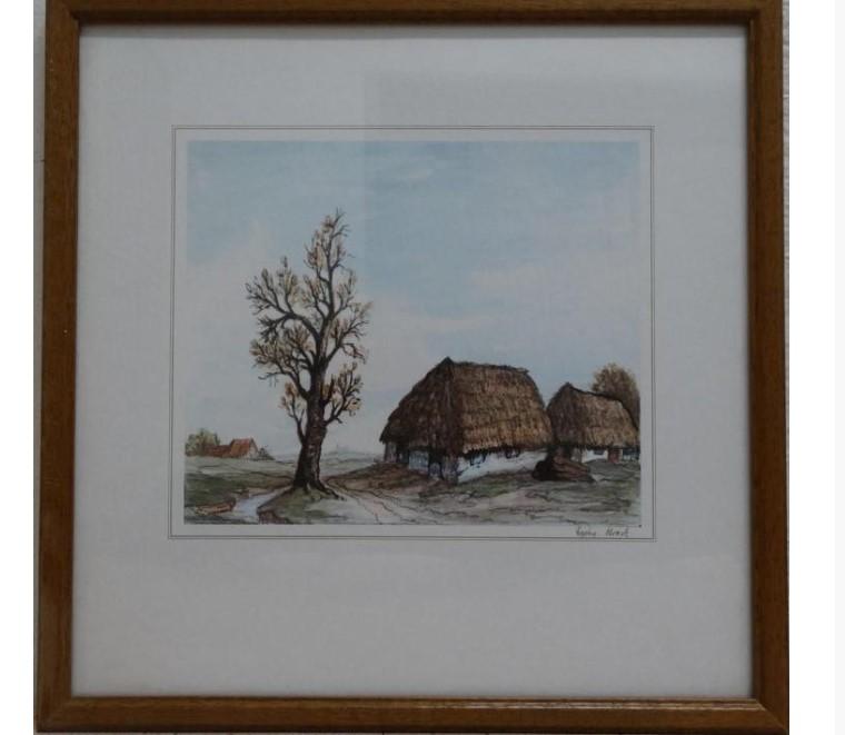Do 25.1.2020 Aukce (Obraz reprodukce: VENKOVSKÁ CHALUPA). Vyvolávací cena 60 Kč, ➡️ ID678643