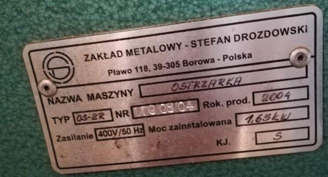 13.1.2020 Dražba stroje Stojanová bruska OS-2R. Vyvolávací cena 20.000 Kč, ➡️ ID670644