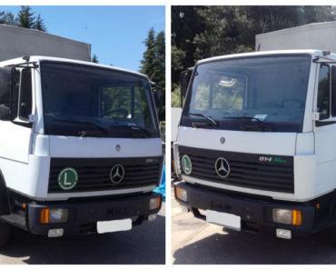 23.3.2020 Dražba nákladního automobilu Mercedes-Benz 814. Vyvolávací cena 40.000 Kč, ➡️ ID690385