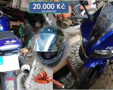 9.4.2020 Dražba motocyklu YAMAHA YZF-R1. Vyvolávací cena 20.000 Kč, ➡️ ID691587