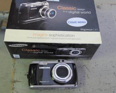 Do 28.4.2020 Aukce elektroniky (SAMSUNG DIGIMAX L85). Vyvolávací cena 200 Kč, ➡️ ID699638