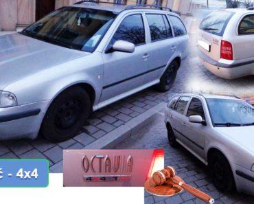 5.5.2020 Dražba automobilu Škoda Octavia, 4x4. Vyvolávací cena 7.260 Kč, ➡️ ID699587