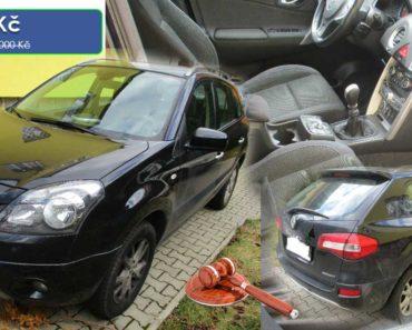 21.4.2020 Dražba automobilu RENAULT KOLEOS Y. Vyvolávací cena 60.500 Kč, ➡️ ID697679