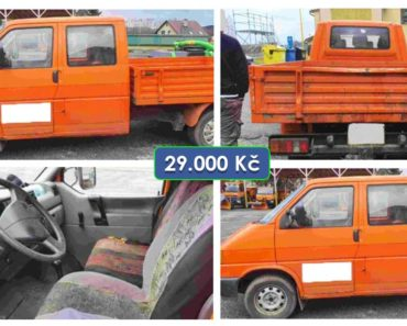 30.3.2020 Aukce nákladního automobilu VW Transporter valník. Vyvolávací cena 29.000 Kč, ➡️ ID697885