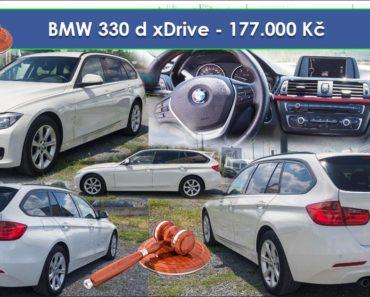 Zisková Dražba BMW 330 d xDrive – vydraženo jen za: 216.400 Kč
