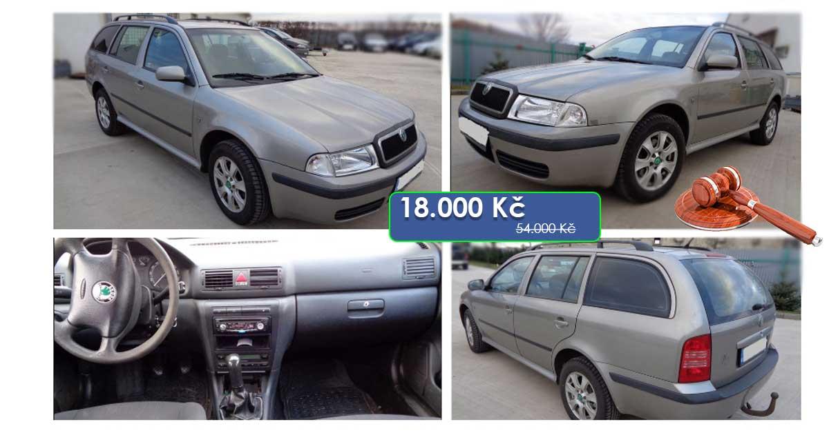 21.7.2020 Dražba automobilu Škoda Octavia 1U. Vyvolávací cena 18.000 Kč, ➡️ ID722409