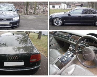 28.5.2020 Dražba automobilu Audi A8 QUATTRO 4.0 TDI. Vyvolávací cena 10.000 Kč, ➡️ ID710101