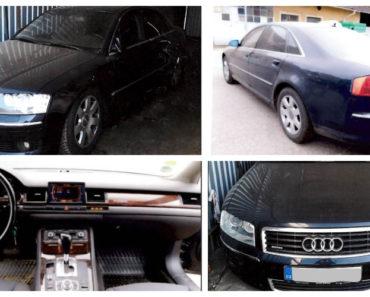 Do 16.6.2020 Aukce automobilu Audi A8 4.2. Vyvolávací cena 76.500 Kč, ➡️ ID715243