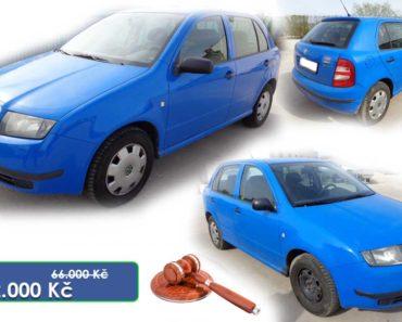 21.7.2020 Dražba automobilu Škoda Fabia. Vyvolávací cena 8.000 Kč, ➡️ ID714621