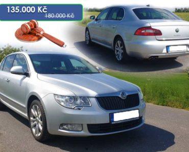 9.6.2020 Aukce automobilu Škoda Superb. Vyvolávací cena 135.000 Kč, ➡️ ID716249