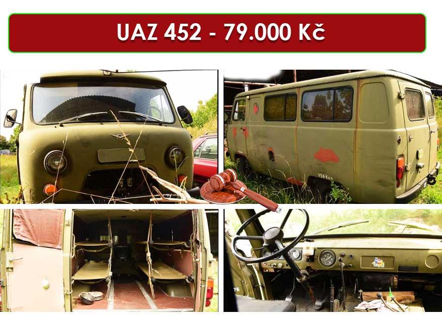 Do 16.7.2020 Aukce automobilu UAZ typ 452. Vyvolávací cena 79.000 Kč, ➡️ ID719690