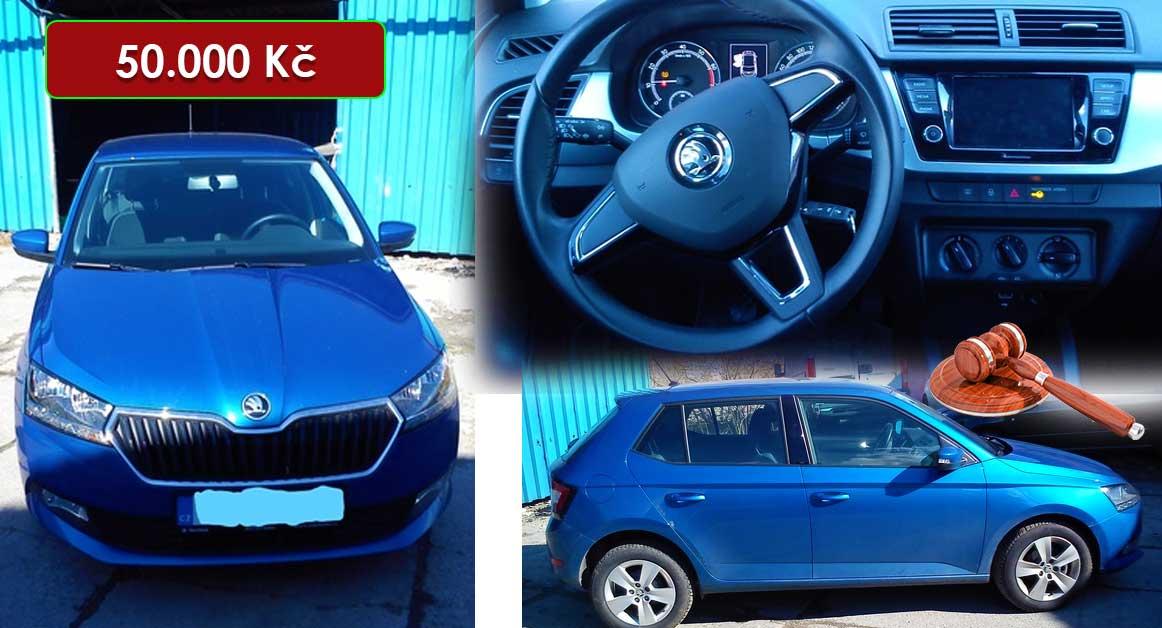 27.7.2020 Dražba automobilu Škoda Fabia. Vyvolávací cena 50.000 Kč, ➡️ ID722381