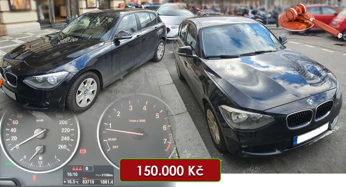 22.7.2020 Aukce automobilu BMW 116i. Vyvolávací cena 150.000 Kč, ➡️ ID719753