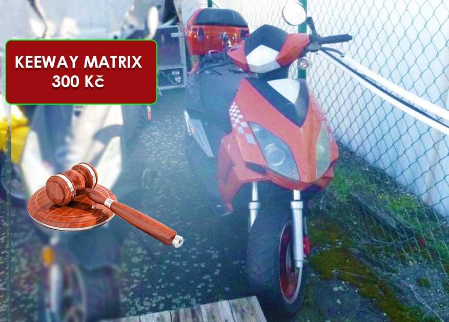 16.7.2020 Dražba motocyklu KEEWAY MATRIX. Vyvolávací cena 300 Kč, ➡️ ID720053