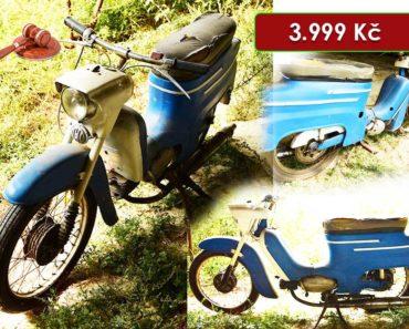 Do 16.7.2020 Aukce motocyklu Jawa 50 Pionýr. Vyvolávací cena 3.999 Kč, ➡️ ID720540
