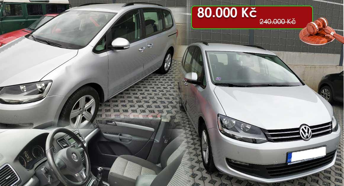15.7.2020 Dražba automobilu VW SHARAN. Vyvolávací cena 80.000 Kč, ➡️ ID720197