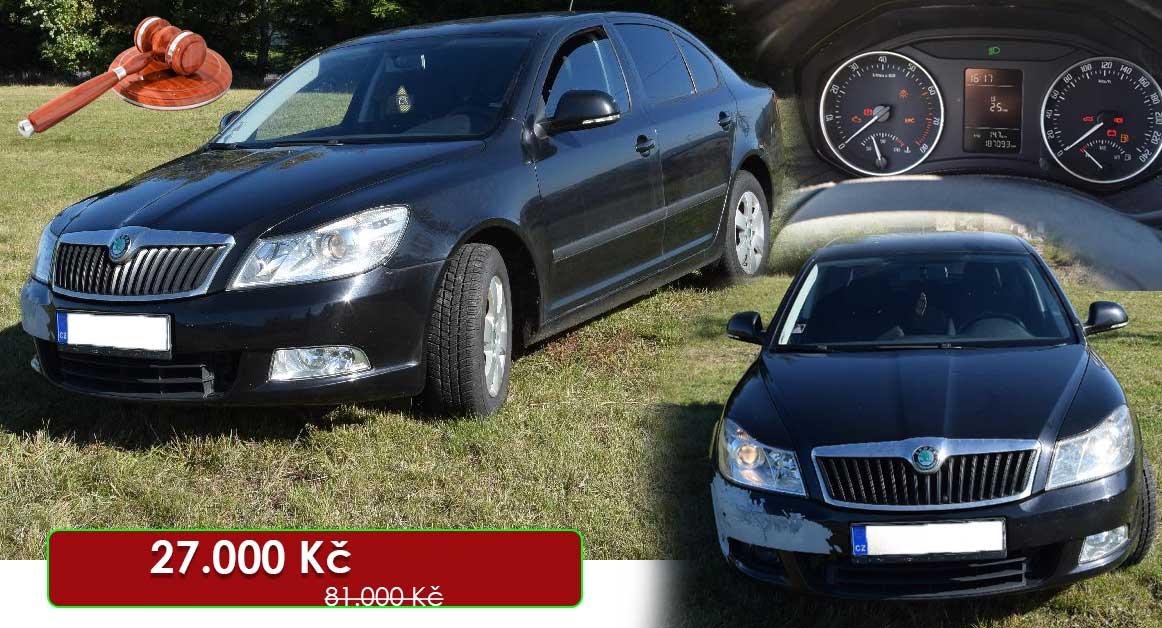 24.7.2020 Dražba automobilu Škoda Octavia II. Vyvolávací cena 27.000 Kč, ➡️ ID721065