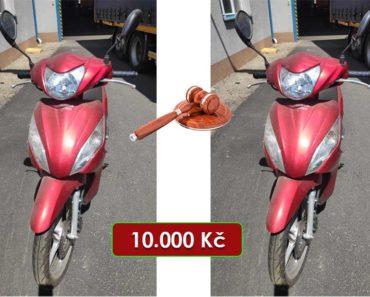 16.7.2020 Dražba motocyklu Honda NSC 110 Vision. Vyvolávací cena 10.000 Kč, ➡️ ID720395