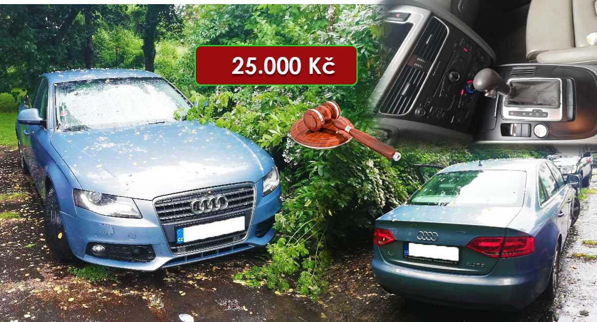 24.7.2020 Dražba automobilu AUDI A4. Vyvolávací cena 25.000 Kč, ➡️ ID724145