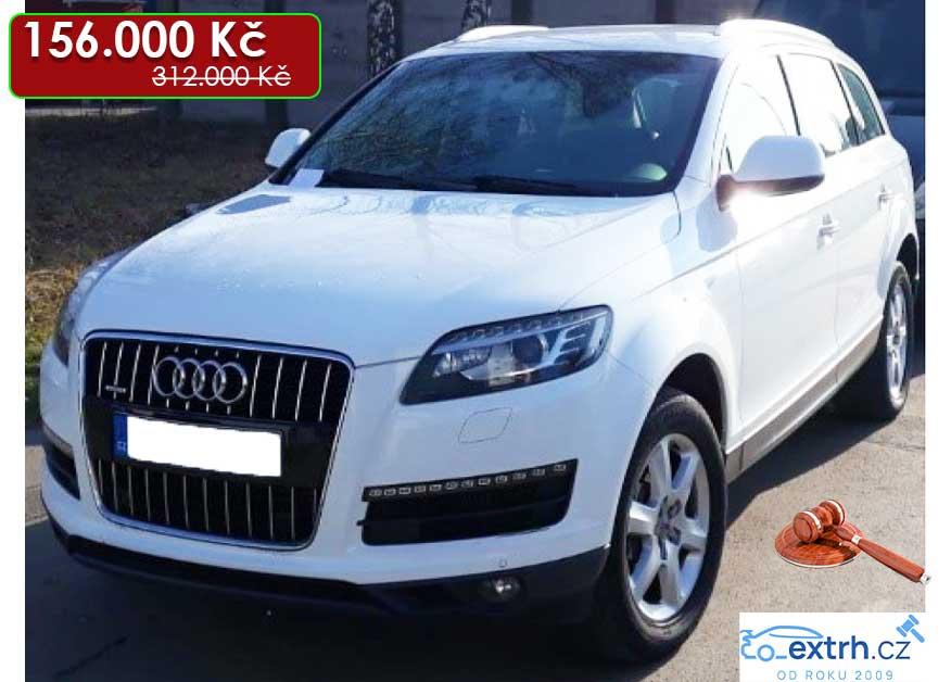 30.7.2020 Dražba automobilu Audi Q7 3.0 TDi. Vyvolávací cena 156.000 Kč, ➡️ ID724577