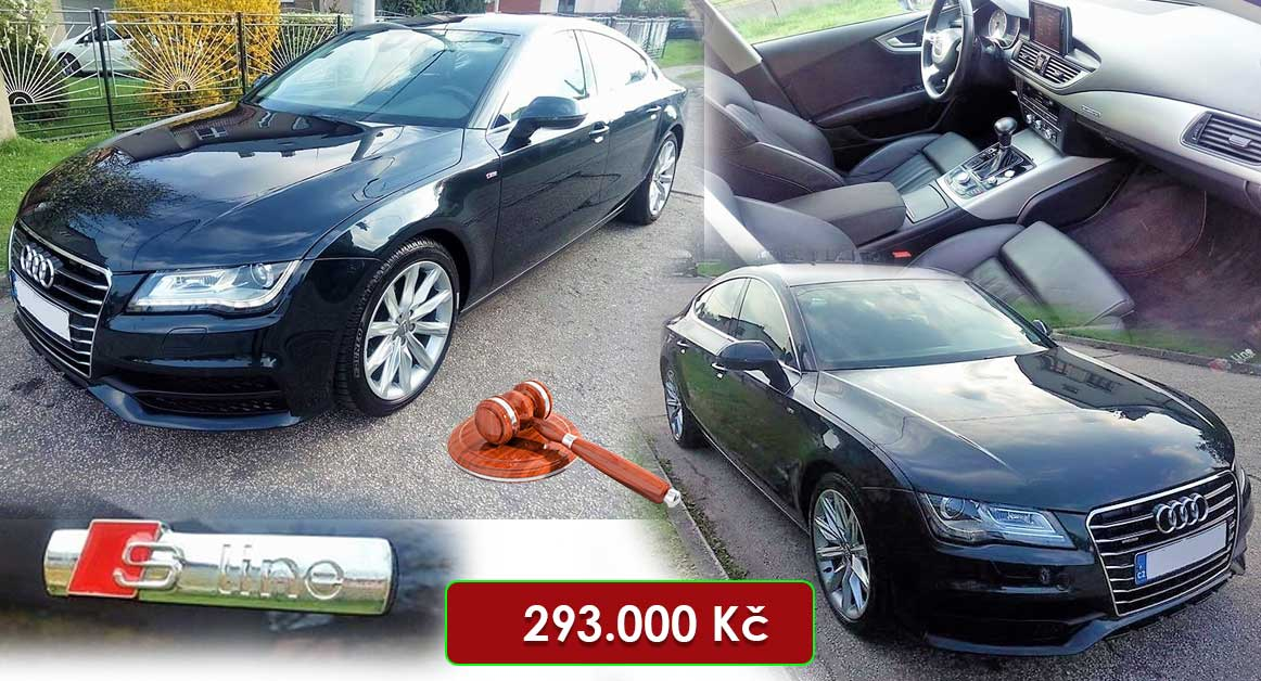31.7.2020 Dražba automobilu Audi A7 Quattro 3.0 TDI S-line. Vyvolávací cena 293.000 Kč, ➡️ ID725551