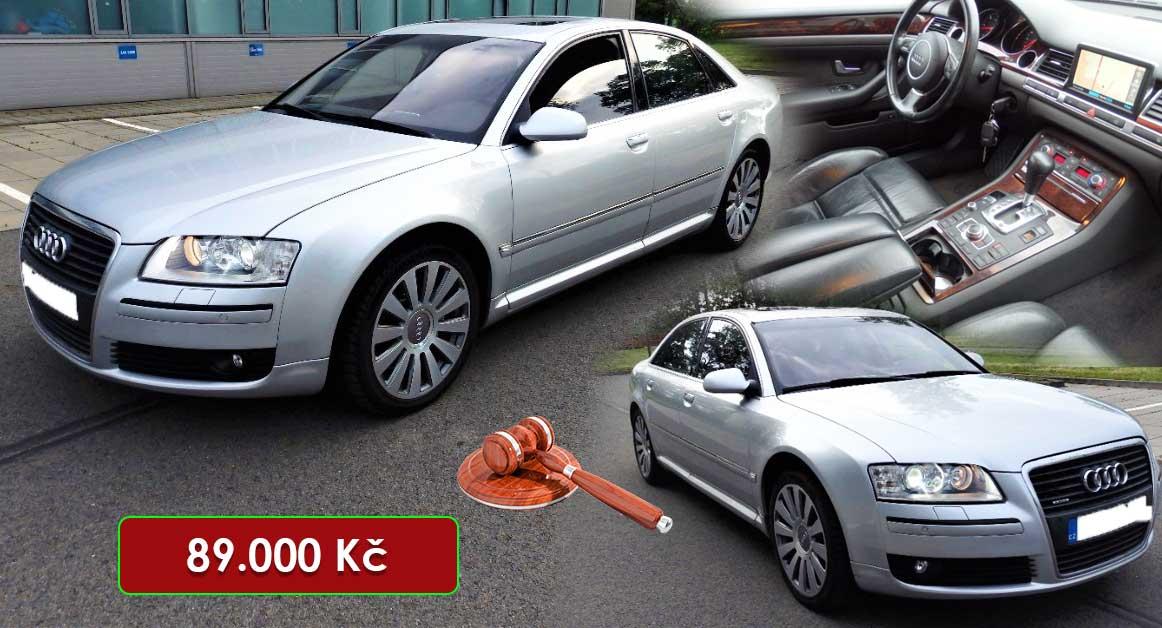 14.7.2020 Dražba automobilu Audi A8 4x4 Quattro. Vyvolávací cena 89.000 Kč, ➡️ ID725612