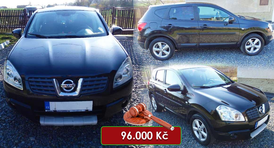14.7.2020 Dražba automobilu Nissan Qashqai 2.0 Cross Edition. Vyvolávací cena 96.000 Kč, ➡️ ID725578