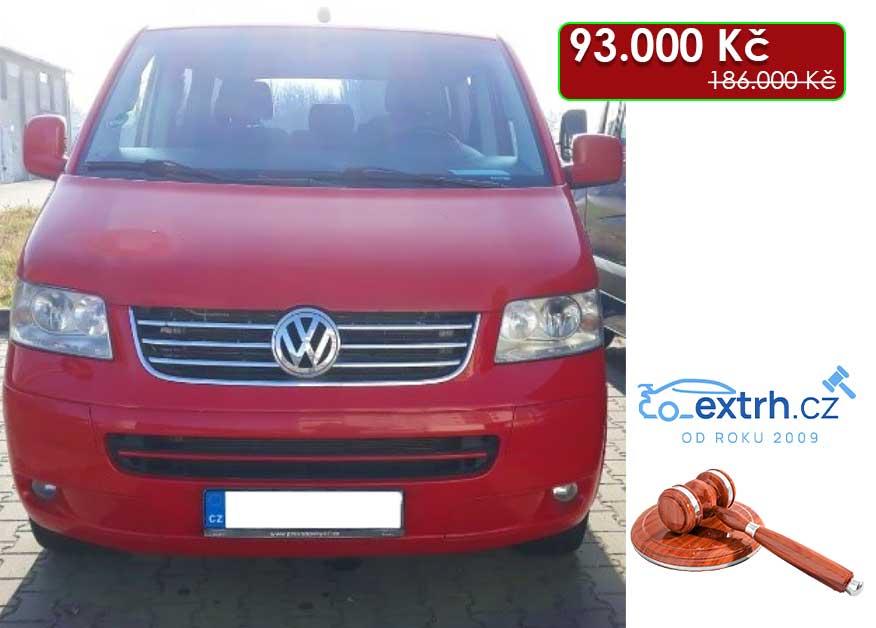 30.7.2020 Dražba automobilu VW Caravelle 2.5 TDi. Vyvolávací cena 93.000 Kč, ➡️ ID724614
