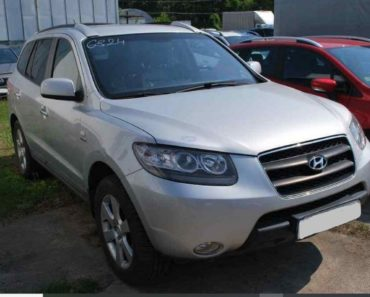 Do 22.7.2020 Aukce automobilu Hyundai Santa Fe 2.2 D. Vyvolávací cena 85.000 Kč, ➡️ ID730103