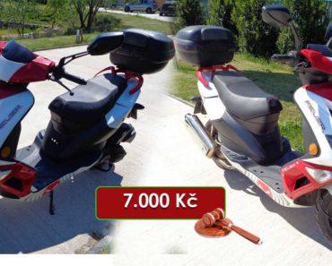 15.9.2020 Dražba motocyklu Kentoya 125T. Vyvolávací cena 7.000 Kč, ➡️ ID726906