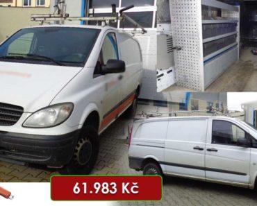 23.7.2020 Aukce automobilu Mercedes-Benz Vito. Vyvolávací cena 61.983 Kč, ➡️ ID727721