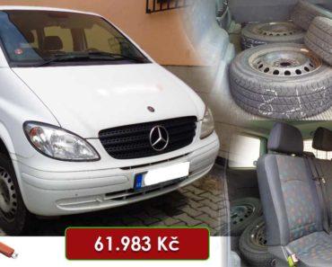 22.7.2020 Aukce automobilu Mercedes-Benz Vito. Vyvolávací cena 61.983 Kč, ➡️ ID727741