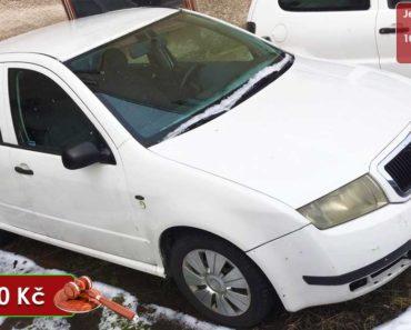 25.9.2020 Dražba automobilu Škoda Fabia. Vyvolávací cena 9.000 Kč, ➡️ ID742535