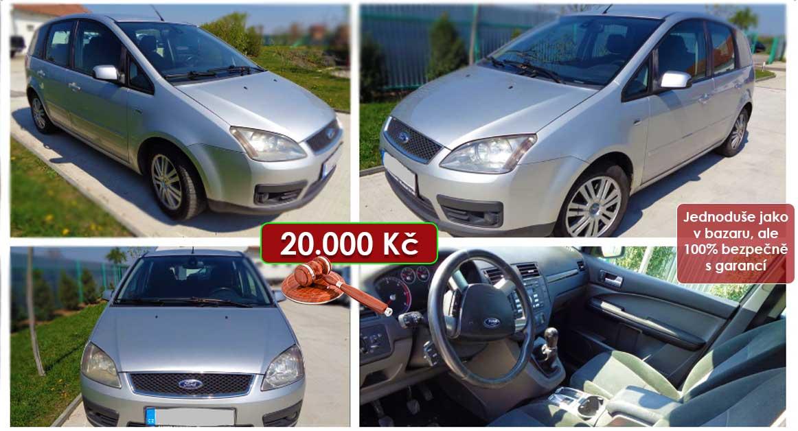 29.9.2020 Dražba automobilu Ford Focus C-Max. Vyvolávací cena 20.000 Kč, ➡️ ID741263