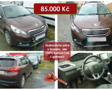 15.9.2020 Dražba automobilu Peugeot 2008. Vyvolávací cena 85.000 Kč, ➡️ ID739517