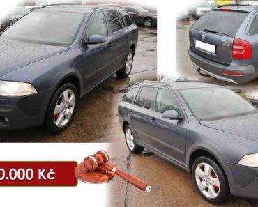 Do 10.8.2020 Aukce automobilu Škoda Octavia Scout 2.0 TDI. Vyvolávací cena 60.000 Kč, ➡️ ID737944
