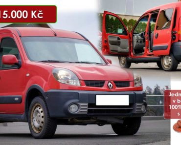 21.8.2020 Dražba automobilu Renault Kangoo. Vyvolávací cena 15.000 Kč, ➡️ ID738412