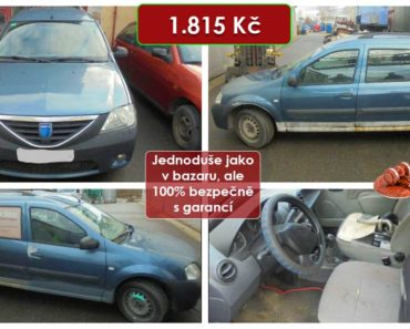 15.9.2020 Dražba automobilu Dacia Logan. Vyvolávací cena 1.815 Kč, ➡️ ID738201