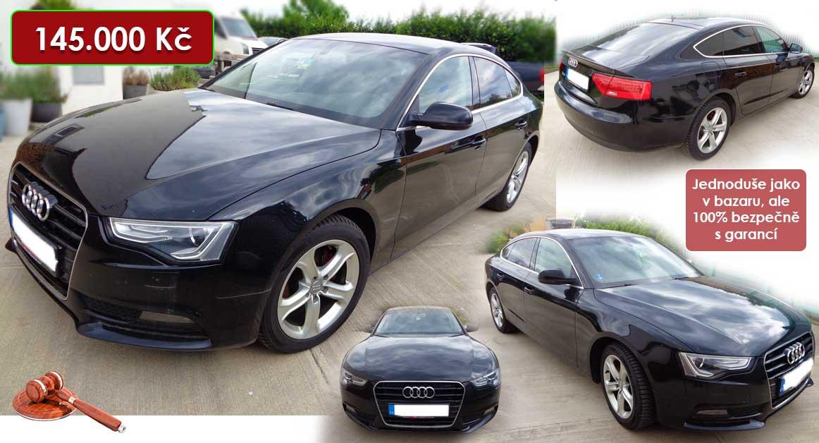 13.10.2020 Dražba automobilu Audi A5 Sportback. Vyvolávací cena 145.200 Kč, ➡️ ID740231