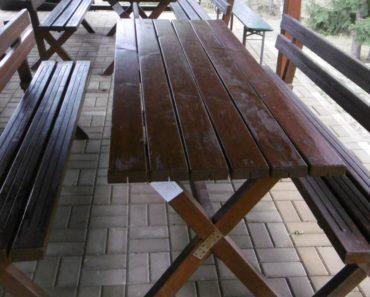 21.9.2020 Dražba nábytku (Zahradní stůl a lavice). Vyvolávací cena 1.500 Kč, ➡️ ID738319