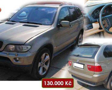 3.10.2020 Aukce automobilu BMW X5 3.0d. Vyvolávací cena 130.000 Kč, ➡️ ID753426