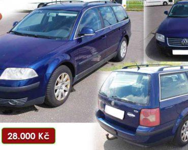 3.10.2020 Aukce automobilu VW Passat Variant 1.9 TDI. Vyvolávací cena 28.000 Kč, ➡️ ID753399