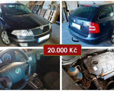 22.10.2020 Dražba automobilu Škoda Octavia 1Z. Vyvolávací cena 20.000 Kč, ➡️ ID752130