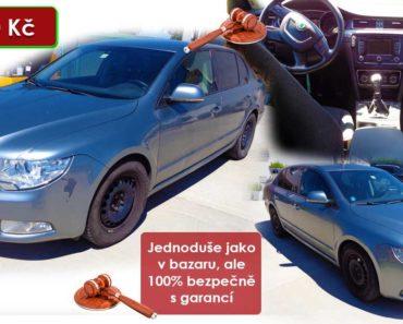 Zisková Dražba Škoda Superb – vydraženo jen za: 102.160 Kč