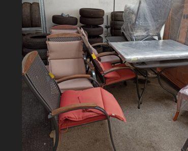 15.10.2020 Dražba ostatních movitých věcí (zahradní nábytekstůl + 6x židle). Vyvolávací cena 500 Kč, ➡️ ID747120