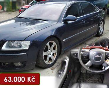 Do 1.10.2020 Aukce automobilu Audi A8 Quattro 4.2. Vyvolávací cena 63.000 Kč, ➡️ ID752776