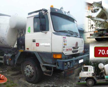 20.10.2020 Dražba vozidla - automíchačky betonu Tatra 815. Vyvolávací cena 70.000 Kč, ➡️ ID752133