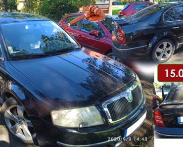 25.11.2020 Dražba automobilu Škoda Superb. Vyvolávací cena 15.000 Kč, ➡️ ID752421